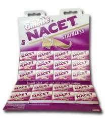 Gillette Nacet Card Shaver 12 pieces