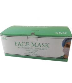 50pcs Disposable 3-Layer Muzzles Non-woven Fiber Fabric Breathable Face Muzzles