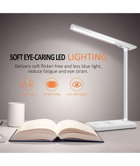 Led Lamp With Wireless Charger