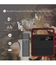 Musky DY31K karaoke black LED display portable BT Speaker with wireless microphone receiver/IR