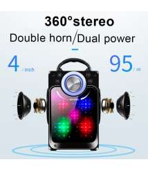 Speaker Wireless 4 Inch Mirror With Controller