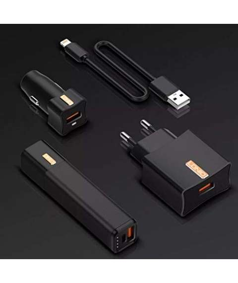 LDNIO CC200 3 in 1 Network Charger, car Charger, Power Bank - Mobile Charging Kit