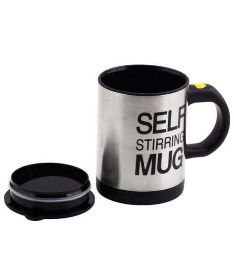 Self Stirring Coffee, Stainless Steel Automatic Self Mixing & Spinning Cup Stainless Steel Coffee Mug  (390 ml)