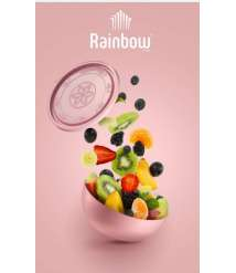 Bowl with cover Rainbow