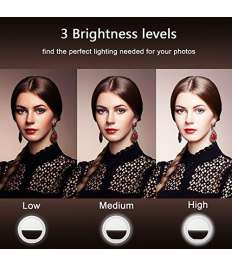 Portable LED Ring Magical Selfie Light Four Level of Illumination Flash Compatible with  Devices