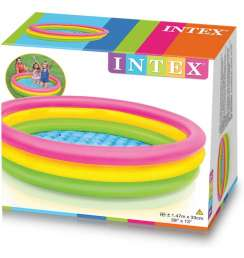 """INTEX sunset Kids Outdoor Inflatable 58"""" Swimming Pool 1.47m * 33cm"""