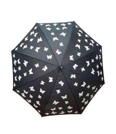 Colour Changing Umbrella- Butterflies, Changes colour from white to multi colour when wet