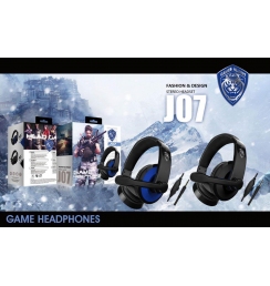 J07 Headset Head-mounted Gaming Headphone Wire-controlled  Computer Game Audio-visual Headset
