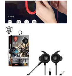 Headphones For Gaming Series GM-D1 with Microphone