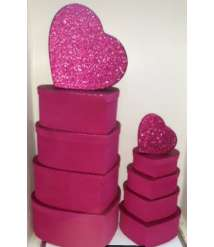 10 Pcs Velvet Heart Gift Box Set