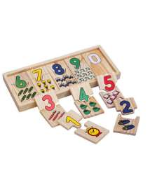 A number matching game with numbers for children