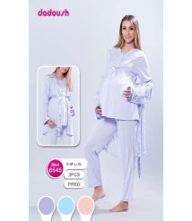 Dadoush 3-piece winter pajamas for pregnant women
