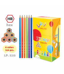 Add me a hex pencils without an eraser to a box of 144 pencils