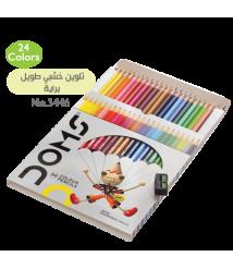DOMS 24 Colors Long Wooden Color Pencils