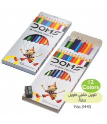 DOMS 12 Colors Long Wooden Color Pencils