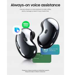 Samsung Galaxy Buds Live, True Wireless Earbuds w/Active Noise Cancelling (Wireless Charging Case